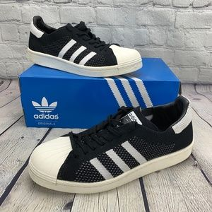 Adidas Black Prime Knit Superstars Boost Sneakers
